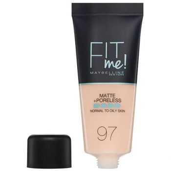 Fond de ten MAYBELLINE FIT ME Matte Poreless 97 Natural Porcelain, 30 ml