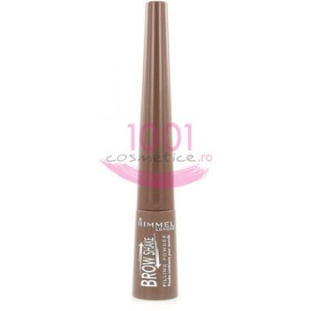 RIMMEL LONDON BROW SHAKE FILLING POWDER FARD PENTRU SPRACENE MEDIUM BROWN 002