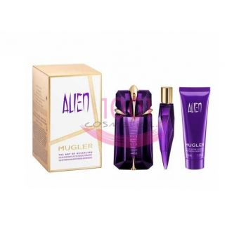 THIERRY MUGLER ALIEN THE ART OF REVEALING EDP 60 ML + REFILLABLE SPRAY 10 L + BODY LOTION 50 ML SET