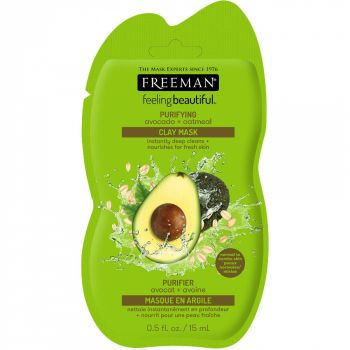 Masca hranitoare si purificatoare FREEMAN Purifying Avocado + Oatmeal Clay Mask, 15 ml