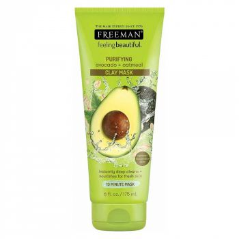 Masca hranitoare si purificatoare FREEMAN Purifying Avocado + Oatmeal Clay Mask, 175 ml