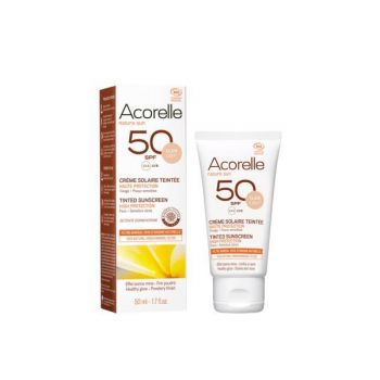 Crema solara colorata SPF 50 - nuanta deschisa 50ml