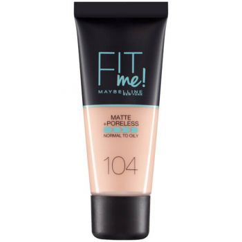 Fond de ten MAYBELLINE FIT ME Matte Poreless 104 Soft Ivory, 30 ml