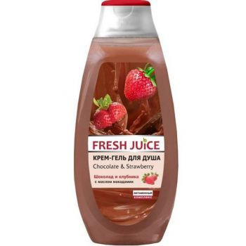 Gel de Dus Cremos cu Extracte de Cacao si Capsuni Fresh Juice, 400ml