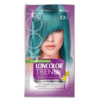 Vopsea de păr semipermanentă Loncolor Trendy Colors T9 Turcoaz Progresiv, 25 ml