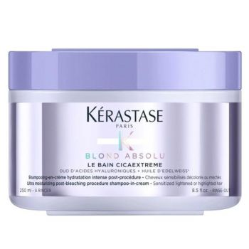 Sampon Crema Hidratant Post Decolorare - Kerastase Blond Absolu Le Bain Cicaextreme Post-bleaching Shampoo-in-cream, 250 ml