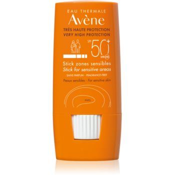 Avène Sun Sensitive adera pe zonele sensibile SPF 50+
