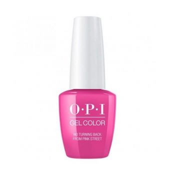 Lac de Unghii Semipermanent Opi Gel Color No Turning Back From Pink Street 7.5ml