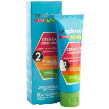 Crema-Gel Sebum Control - Gerovital Stop Acnee Sebum Control Cream-Gel, 50ml