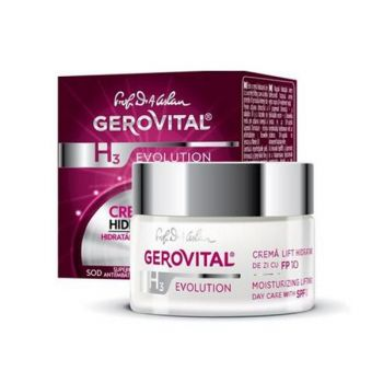 Crema Lift Hidratanta de Zi, cu SPF 10 - Gerovital H3 Evolution Moisturizing Lifting Day Care with SPF 10, 50ml