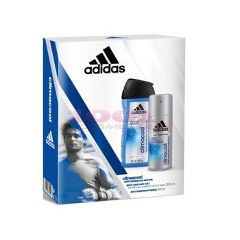 adidas CLIMACOOL MEN ANTI-PERSPIRANT SPRAY 150 ML + BODY HAIR FACE CLIMACOOL 250 ML SET