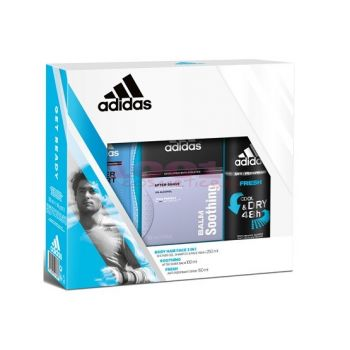 adidas SOOTHING AFTER SHAVE 100 ML + DEO BODY SPRAY 150 ML + GEL DE DUS 250 ML SET