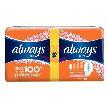 ALWAYS ULTRA NORMAL FRESH ABSORBANTE 18 BUCATI
