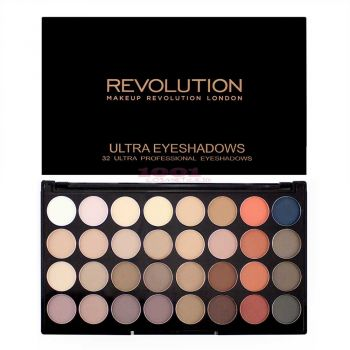 MAKEUP REVOLUTION LONDON ULTRA EYESHADOWS 32 CULORI FLAWLESS MATTE 2