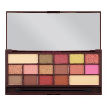 MAKEUP REVOLUTION CHOCOLATE ROSE GOLD EYESHADOW PALETA DE FARDURI