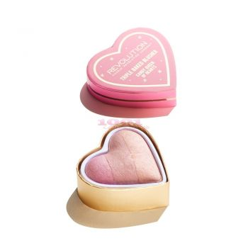 MAKEUP REVOLUTION LONDON TRIPLE BAKED BLUSHER CANDY QUEEN OF HEARTS