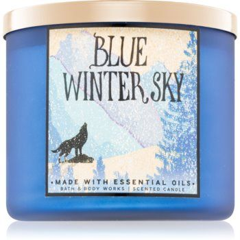 Bath & Body Works Blue Winter Sky lumânare parfumată