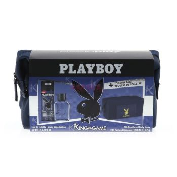 PLAYBOY KING OF THE GAME EDT 60 ML + BODY SPRAY 150 ML + GEANTA COSMETICE SET
